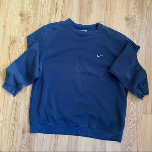 Vintage Nike Small Swoosh Crew Neck Sweatshirt